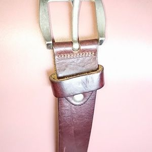"Vera Pelle Italy womens belt 32""x 1"" 3/8 leather"